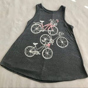 Justice Gray Tunic Top with Cat on Bike